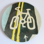 Handmade Cycle Lane Plate #1